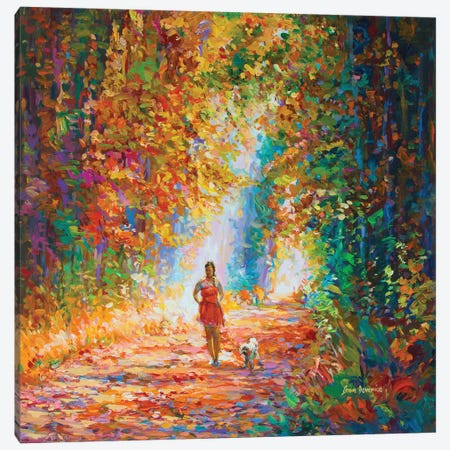 Finding A New Path Canvas Print #DVI149} by Leon Devenice Canvas Wall Art