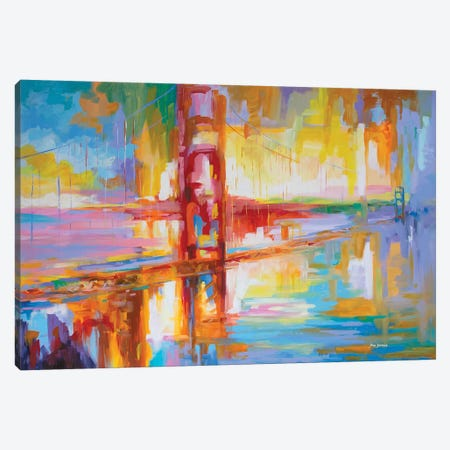 Golden Gate Bridge Canvas Print #DVI155} by Leon Devenice Canvas Wall Art