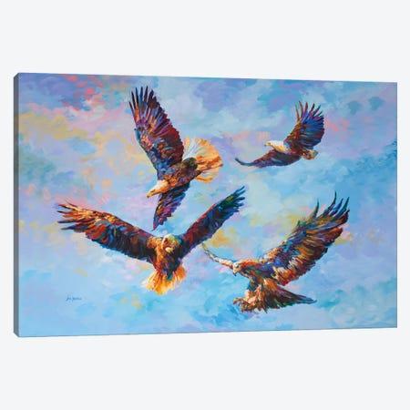Where Eagles Dare Canvas Print #DVI158} by Leon Devenice Art Print