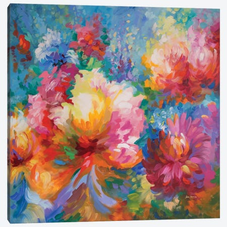 Joyful Celebration Canvas Print #DVI159} by Leon Devenice Art Print