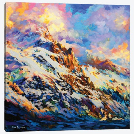 Calling Of The Mountains Canvas Print #DVI15} by Leon Devenice Canvas Print