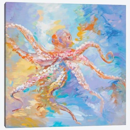 Agent Octopus Canvas Print #DVI160} by Leon Devenice Canvas Wall Art