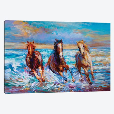 Beauty, Spirit & Freedom Canvas Print #DVI161} by Leon Devenice Canvas Wall Art