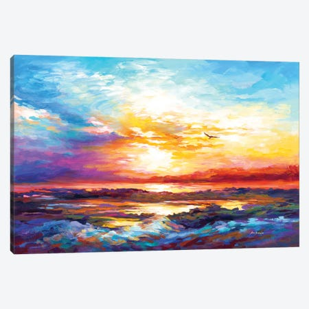 Sunset In Corsica Canvas Print #DVI162} by Leon Devenice Canvas Artwork