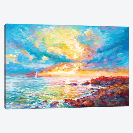 Sunset In Sardinia Canvas Print #DVI163} by Leon Devenice Canvas Wall Art