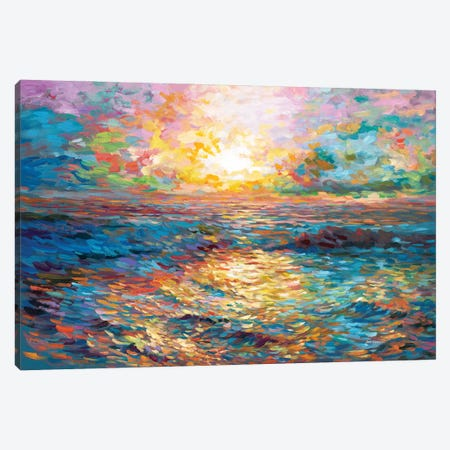 Sunset In Mykonos Canvas Print #DVI164} by Leon Devenice Canvas Print