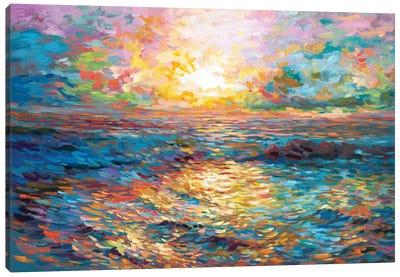 Sunset In Mykonos Canvas Art Print