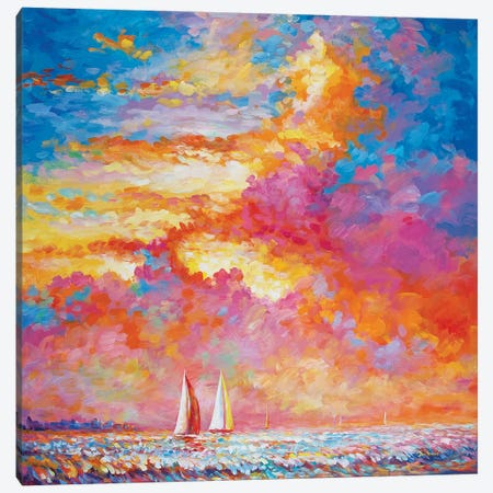 Sail Your Worries Away Canvas Print #DVI166} by Leon Devenice Canvas Print