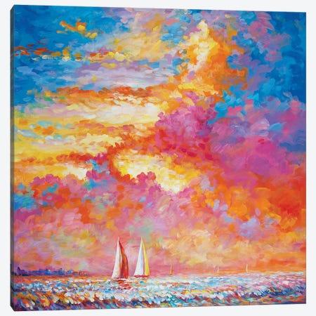 Sail Your Worries Away Canvas Print #DVI166} by Leon Devenice Canvas Print