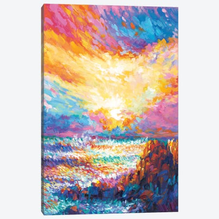 Poetry At Sunset Canvas Print #DVI168} by Leon Devenice Canvas Wall Art