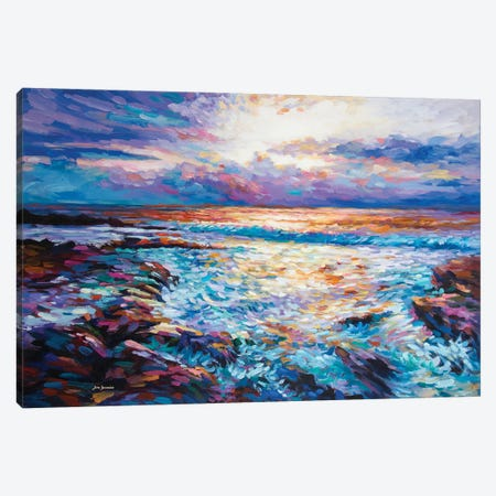 Contemplation By The Sea Canvas Print #DVI169} by Leon Devenice Canvas Wall Art