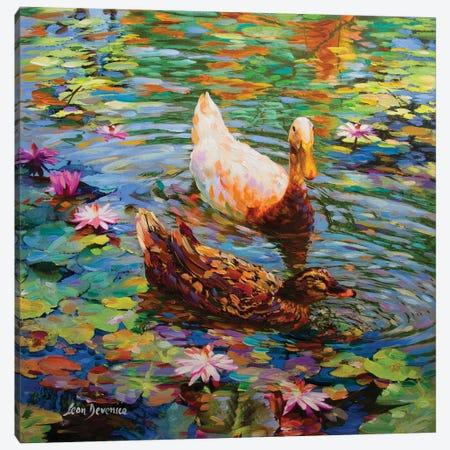 Colorful Wishes Canvas Print #DVI16} by Leon Devenice Canvas Art Print