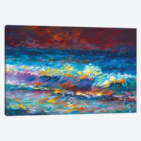 Waves Of Time 3-Piece Canvas #DVI171} by Leon Devenice Canvas Print