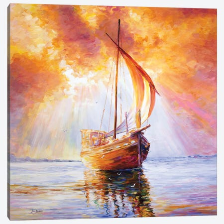 Sailing The Seas Of Poetry & Life Canvas Print #DVI175} by Leon Devenice Canvas Wall Art