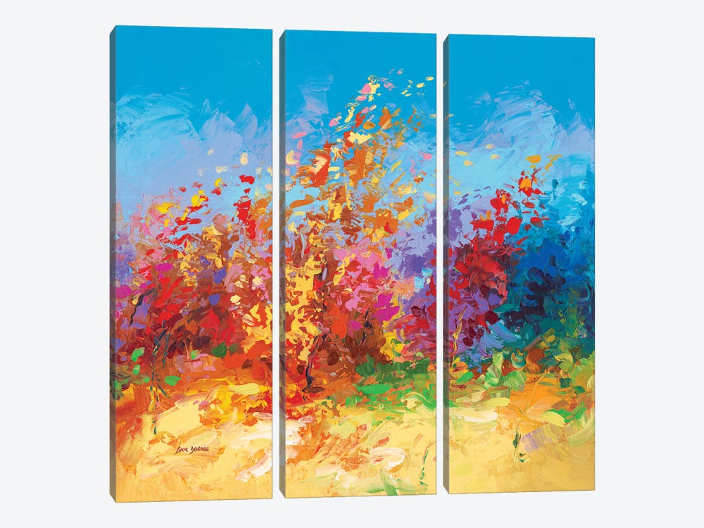 Whispers In The Wind by Leon Devenice 3-piece Canvas Print