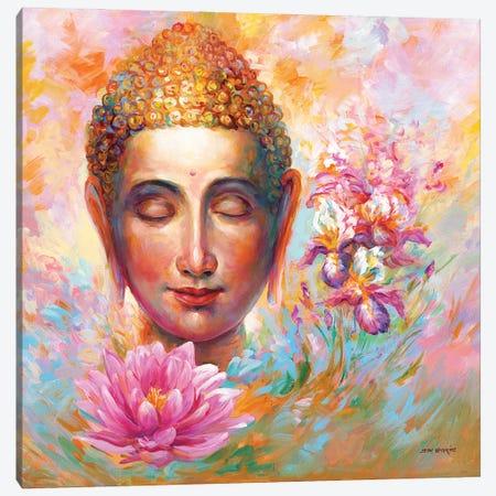 Buddha Canvas Print #DVI180} by Leon Devenice Canvas Wall Art