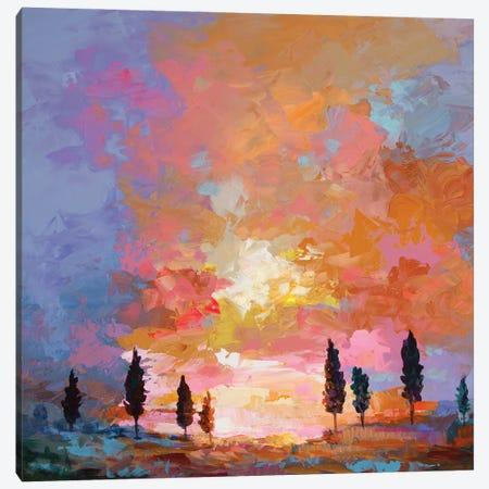 Tuscan Sunset Canvas Print #DVI183} by Leon Devenice Canvas Artwork