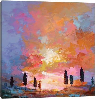 Tuscan Sunset Canvas Art Print