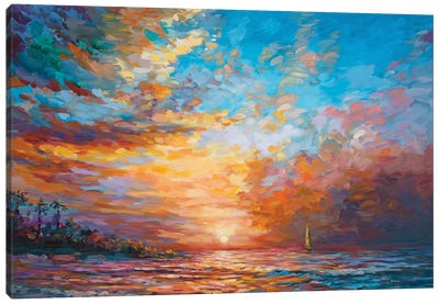 Caribbean Sunset Canvas Art Print