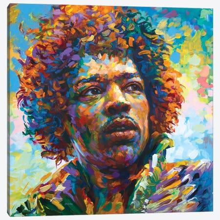Legendary Guitarist Canvas Print #DVI188} by Leon Devenice Canvas Art