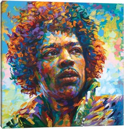 Legendary Guitarist Canvas Art Print