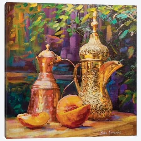 Copper And Gold Canvas Print #DVI18} by Leon Devenice Canvas Art
