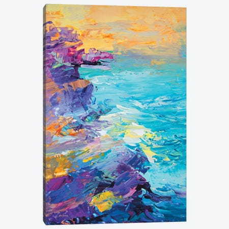 Magnificent Coastline Canvas Print #DVI193} by Leon Devenice Canvas Art Print