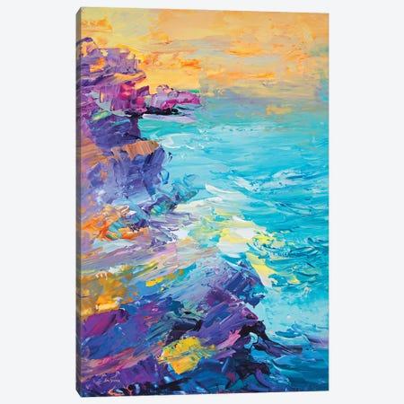 Magnificent Coastline Canvas Print #DVI193} by Leon Devenice Canvas Art Print