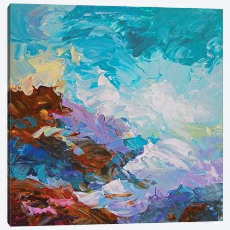 Land And Sea Canvas Print #DVI194} by Leon Devenice Canvas Wall Art