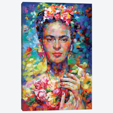 Frida Canvas Print #DVI195} by Leon Devenice Canvas Wall Art
