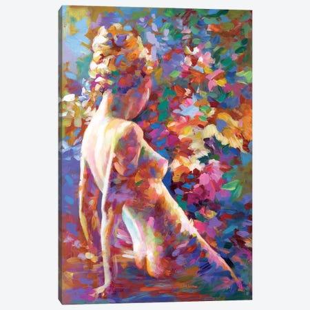 Lady Flower Canvas Print #DVI198} by Leon Devenice Canvas Print