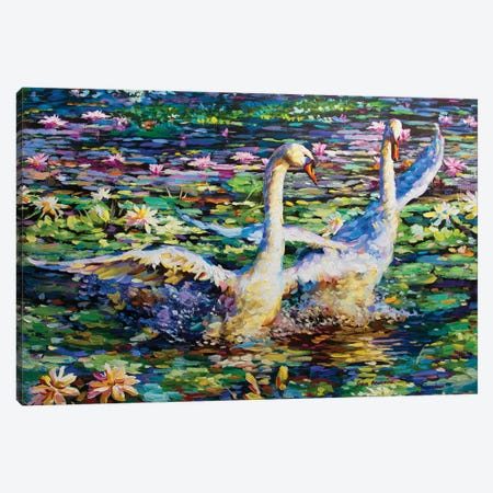 Dance Of The Swans Canvas Print #DVI19} by Leon Devenice Canvas Artwork