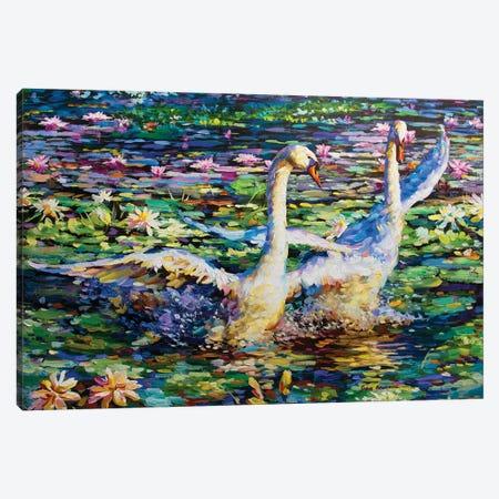 Dance Of The Swans Canvas Print #DVI19} by Leon Devenice Canvas Artwork