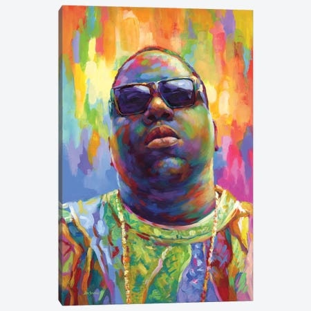 Notorious Canvas Print #DVI201} by Leon Devenice Art Print