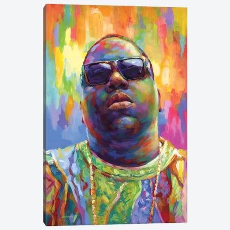 Notorious Canvas Print #DVI201} by Leon Devenice Art Print