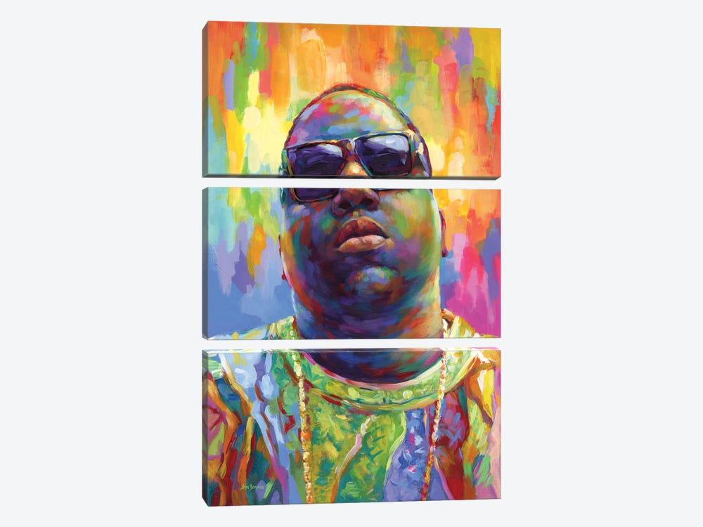 Notorious by Leon Devenice 3-piece Canvas Art Print