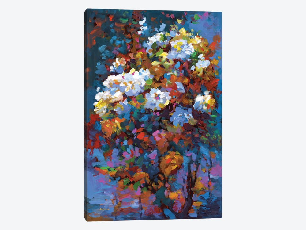 Wild Roses In Bloom by Leon Devenice 1-piece Canvas Wall Art