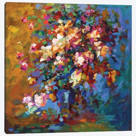 Bouquet Of Flowers Canvas Print #DVI203} by Leon Devenice Art Print