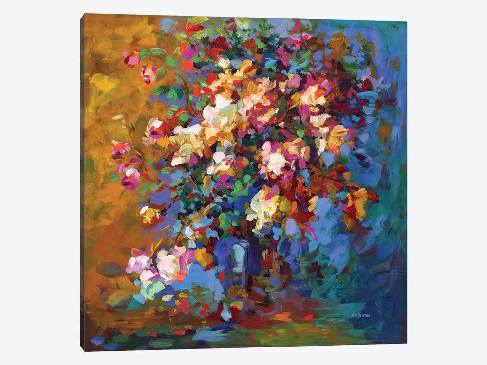 Bouquet Of Flowers by Leon Devenice 1-piece Canvas Print