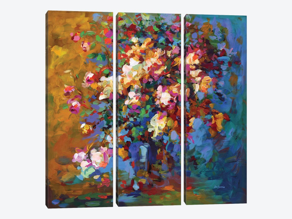 Bouquet Of Flowers by Leon Devenice 3-piece Canvas Print