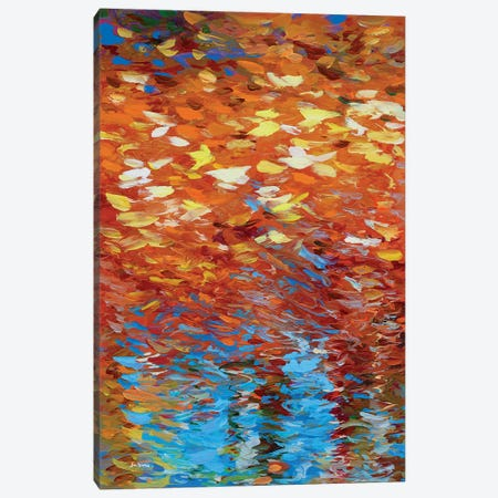 Autumn Reflection Canvas Print #DVI210} by Leon Devenice Canvas Artwork