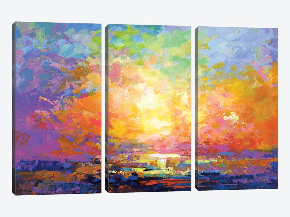 A Time for Wandering by Leon Devenice 3-piece Canvas Art Print