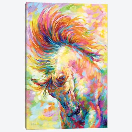 Brave Horse Canvas Print #DVI213} by Leon Devenice Canvas Artwork