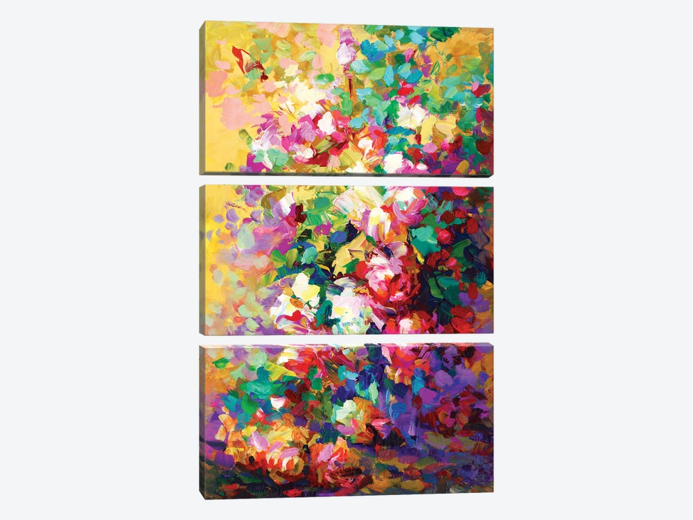 Roses by Leon Devenice 3-piece Canvas Wall Art