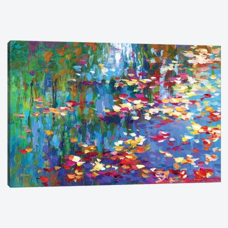 Autumn Reflections II Canvas Print #DVI220} by Leon Devenice Art Print