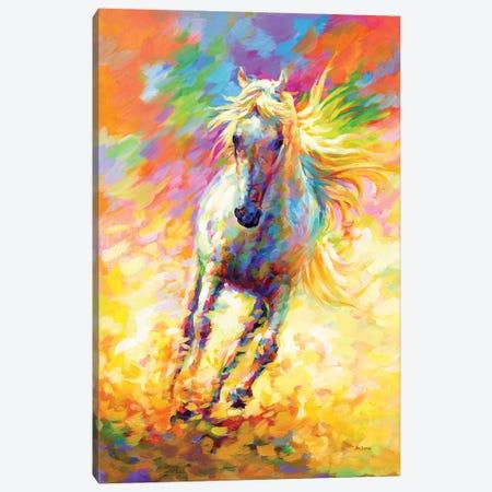 The Golden Horse Canvas Print #DVI221} by Leon Devenice Canvas Art Print