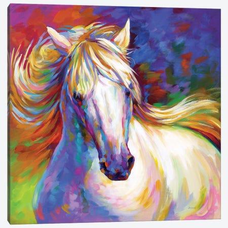 Elegant Horse Canvas Print #DVI222} by Leon Devenice Canvas Art Print