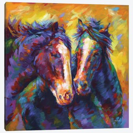 Friendship Canvas Print #DVI223} by Leon Devenice Canvas Print