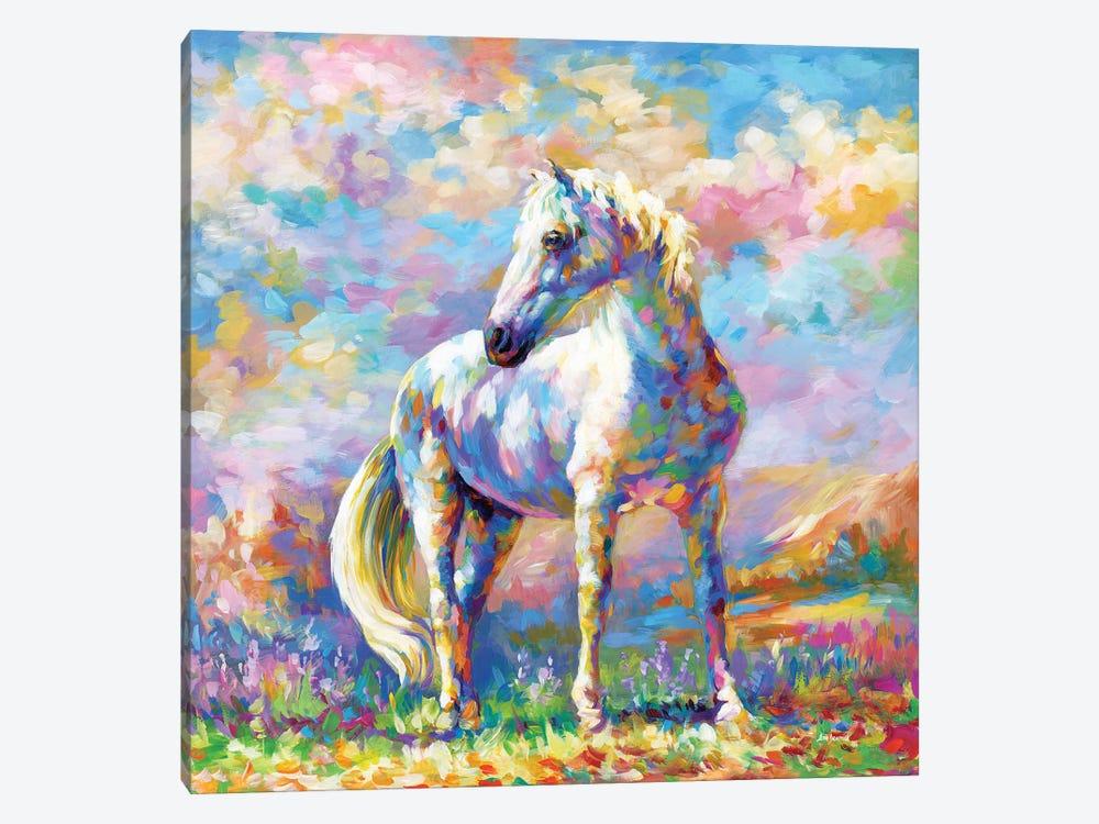 Horse In A Meadow by Leon Devenice 1-piece Canvas Wall Art