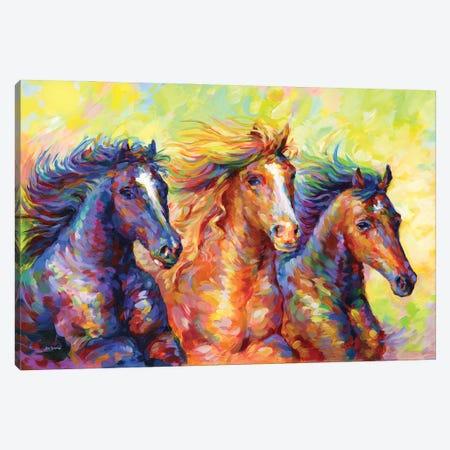 Three Friends Canvas Print #DVI228} by Leon Devenice Art Print